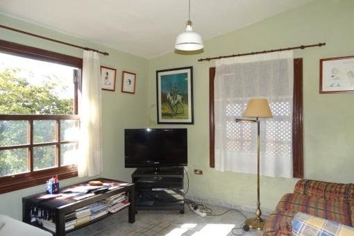 Fernsehecke im Wohnbereich