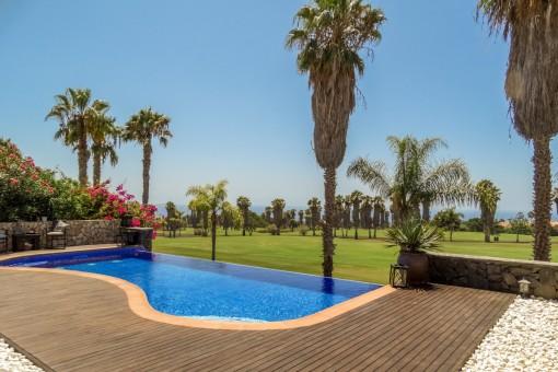 Harmonische Villa in höchster Qualität mit Meerblick am Golfplatz Costa Adeje