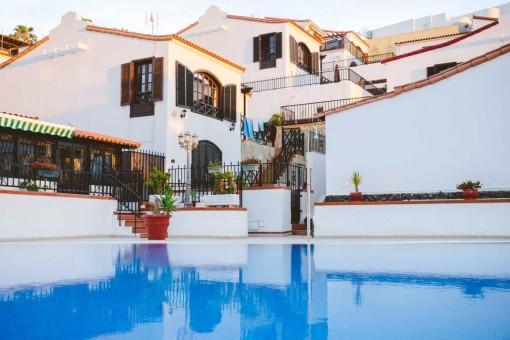 Costa Adeje, Teneriffa: Frisch renoviertes Haus im Kanarischen Stil mit 3 Schlafzimmern, 2 Bädern und Jacuzzi