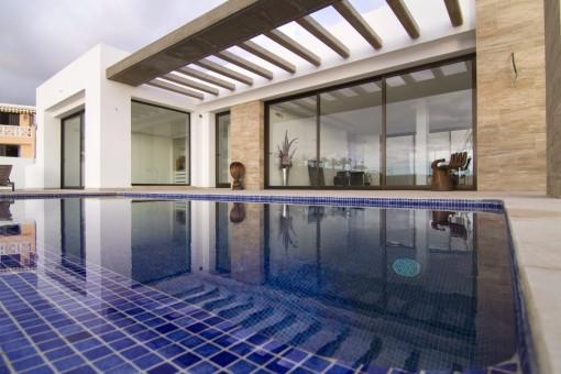 Luxusvillen in San Eugenio Alto mit 4 Schlafzimmer 4 Bäder Infinity Schwimmbad mit Meerblick