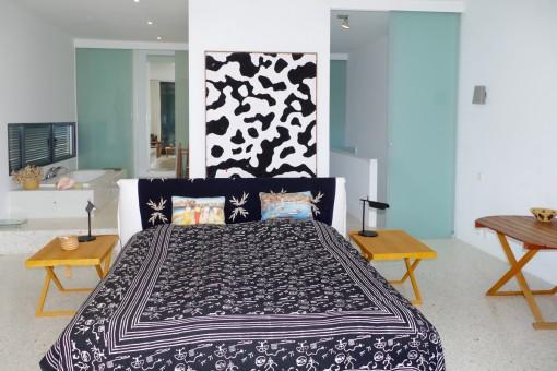 Das Schlafzimmer bietet ein Badezimmer en Suite
