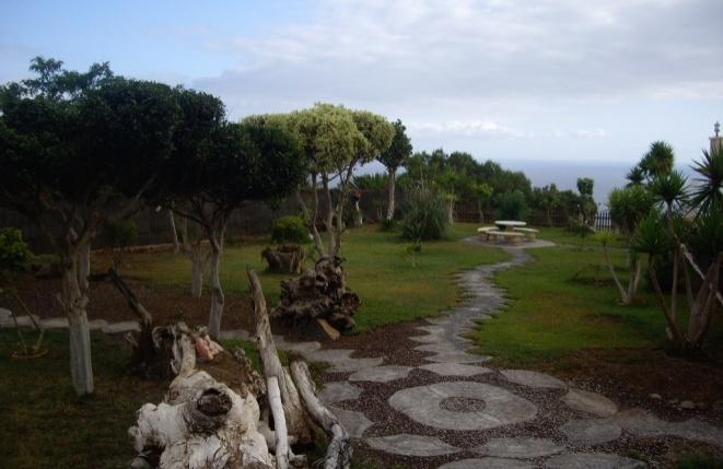 Exotisch angelegter Garten