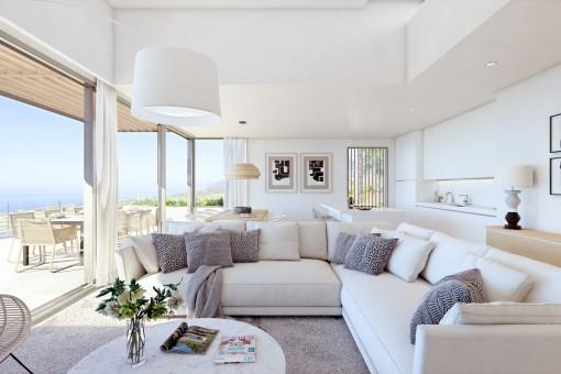 Neu gebaute Luxusresidenzen mit spektakulärem Meerblick in einem exklusiven Resort in Guia de Isora