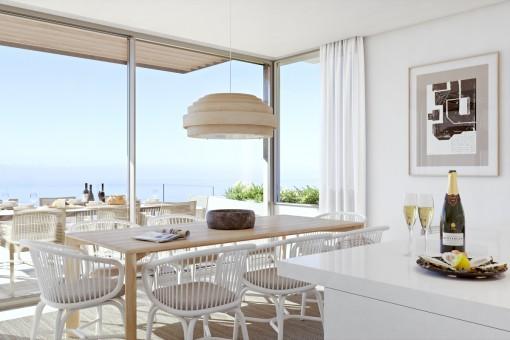 Luxusvilla mit spektakulärem Meerblick, Terrasse und 3 Schlafzimmer in einem exklusiven Resort in Guia de Isora