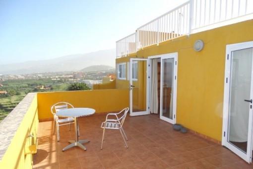 Los Realejos: Geräumige Wohnung mit herrlichem Meerblick