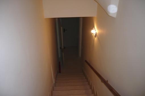 Treppe zur Garage