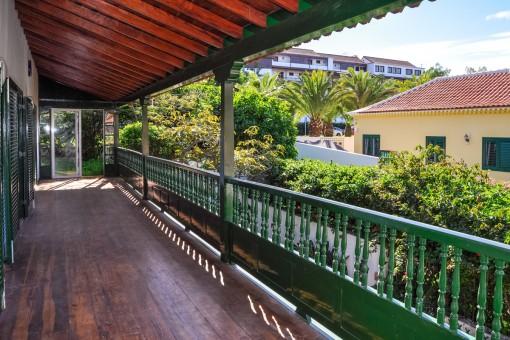 Unmöbliertes kanarisches Haus mit 2 Terrassen in Puerto de la cruz