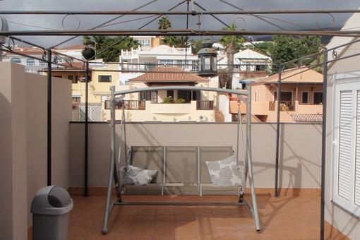 Die großzügige Terrasse