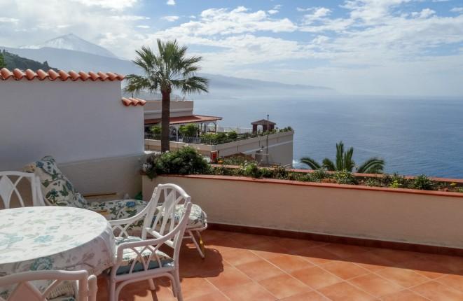 Stilvolle Wohnung mit sehr schönem Teide- und Meerblick und großer Terrasse in La Matanza de Acentejo