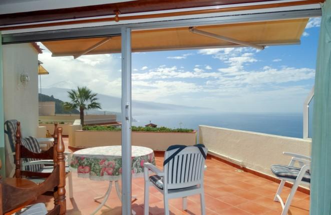 Große helle Wohnung ohne Stufen mit Teide- und Meerblick von fast 50 m2 Terrasse in La Matanza de Acentejo