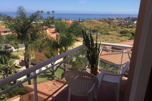 Helles Apartment in ruhiger Lage mit Terrasse und Meerblick in Puerto de la Cruz