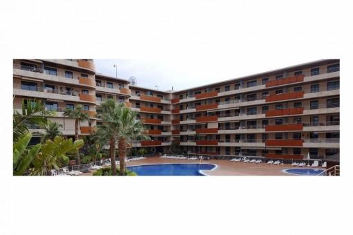 2 Schlafzimmer Apartment im Balcon de Los Gigantes mit Swimmingpools und Jacuzzi