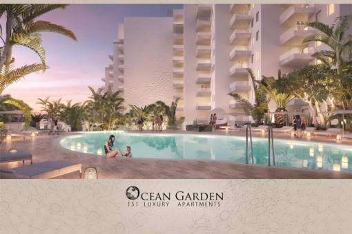 Luxuriöse 1,2 und 3 Schlafzimmer Apartments im Ocean Garden Complex - Playa Paraiso