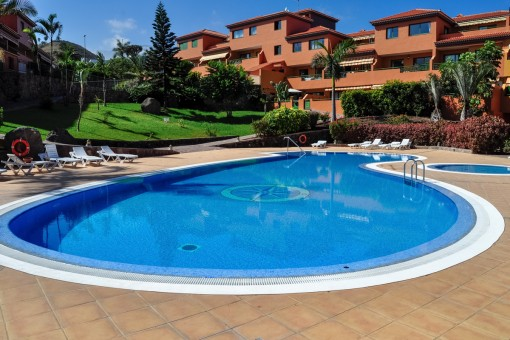 Stilvolle, möblierte Wohnung mit Terrasse und Pool in einer ruhigen Anlage in Puerto de la Cruz