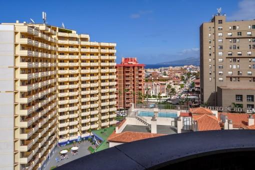 Großartiger Blick vom Balkon der Wohnung