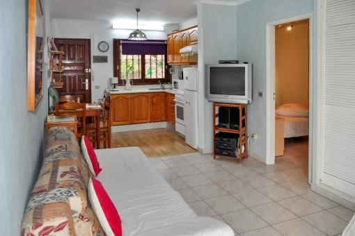 Ruhiges Apartment mit einem Schlafzimmer, Terrasse und Gemeinschaftspool in Puerto de la Cruz