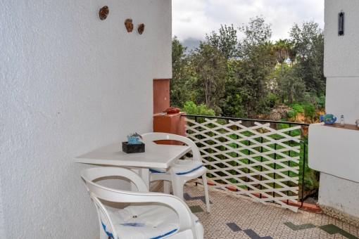 Großzügig geschnittene Terrasse