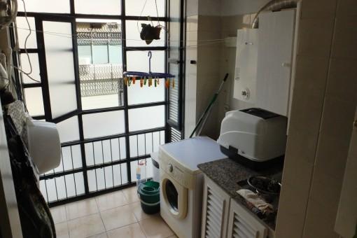 Bereich für Waschmaschine