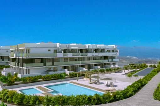 Luxsusapartament mit Pool und Tiefgarage am La Tejita Strand