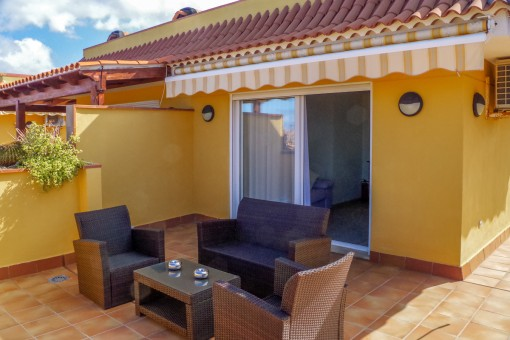 Alternative Ansicht von der Terrasse