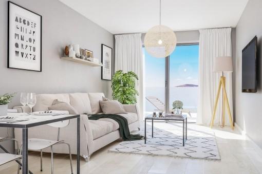 Eleganter Wohnbereich mit Terrasse