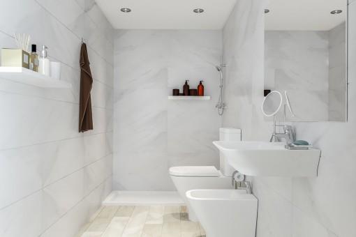 Hochwärtiges Badezimmer