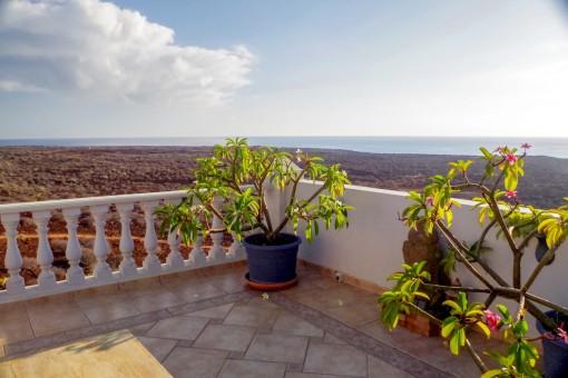 Luxuriöse Traumwohnung am Naturschutzgebiet mit fantastischem Meerblick von 2 Terrassen in Palm Mar - Teneriffa Süd