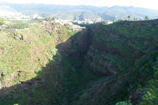 Natürliche, wilde Landschaft im Barranco