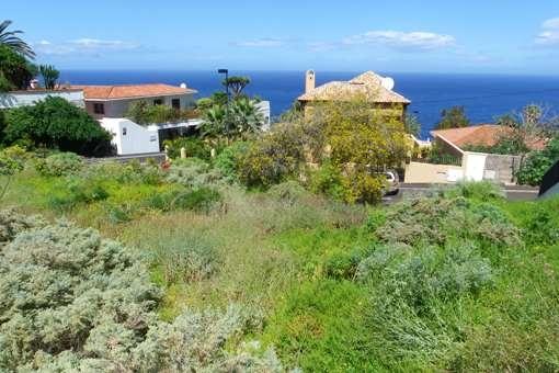 Baugrundstück in begehrter Lage von El Sauzal mit Aussicht auf Teide und Meer