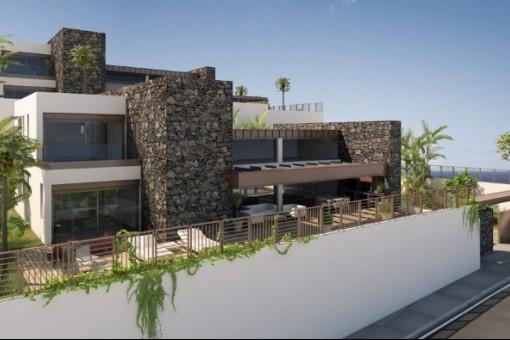 Fassadenblick der Villa
