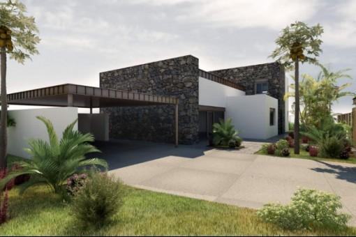 Das Grundstück rund um die Villa