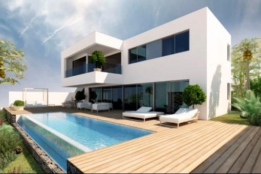 Villaprojekt mit dem Schwimmbad