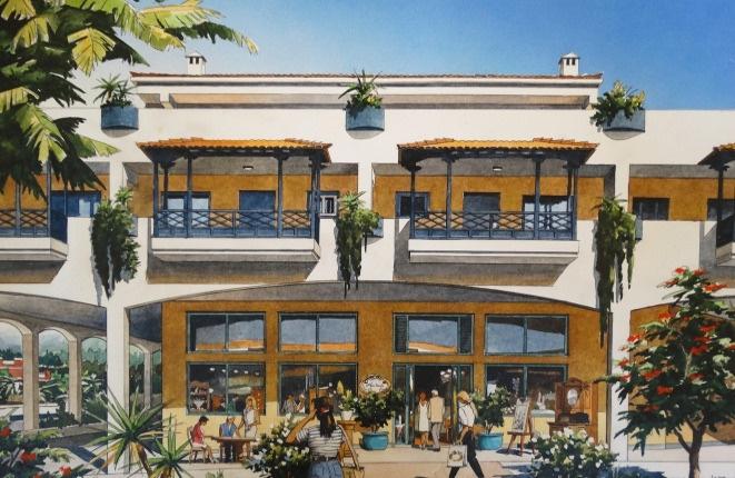 Einmalige Gewerbeimmobilie mit 5 m Deckenhöhe und großer Terrasse nahe El Botánico
