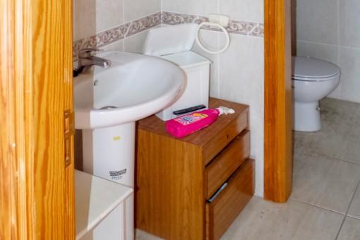 Eins von den WC