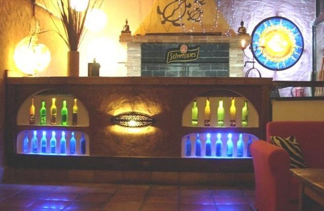 Blick auf die Bar des Restaurants
