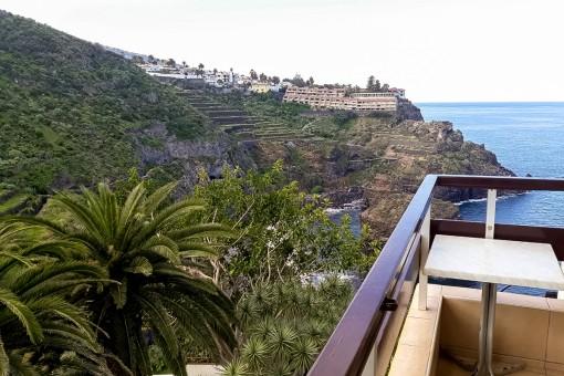 Gepflegtes Apartment mit Terrasse, Meerblick und Swimmingpool in n Puerto de la Cruz