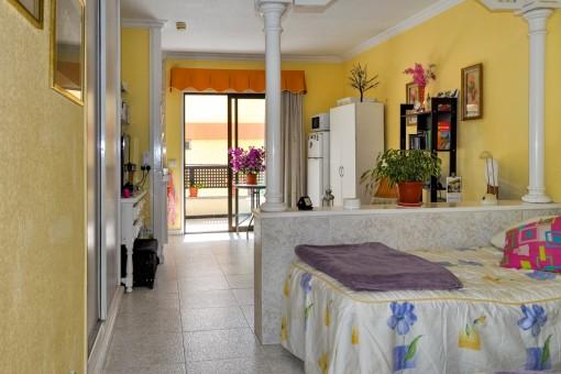 Nettes Studio mit Terrasse im Zentrum von Puerto de la Cruz in einer gepflegten Anlage