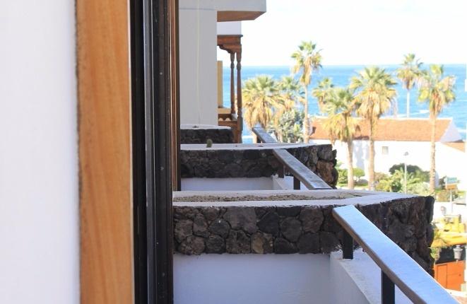 Zentral gelegene Meerblickwohnung mit 2 Balkonen in Puerto de la Cruz