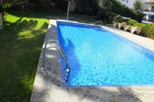 7-Puerto_del_la_Cruz-Terrasse-Appartment mit Pool-Langzeitmiete-Teneriffa-Studio-Küche-Pool-Teide