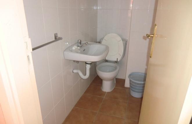 Eines der beiden Toiletten